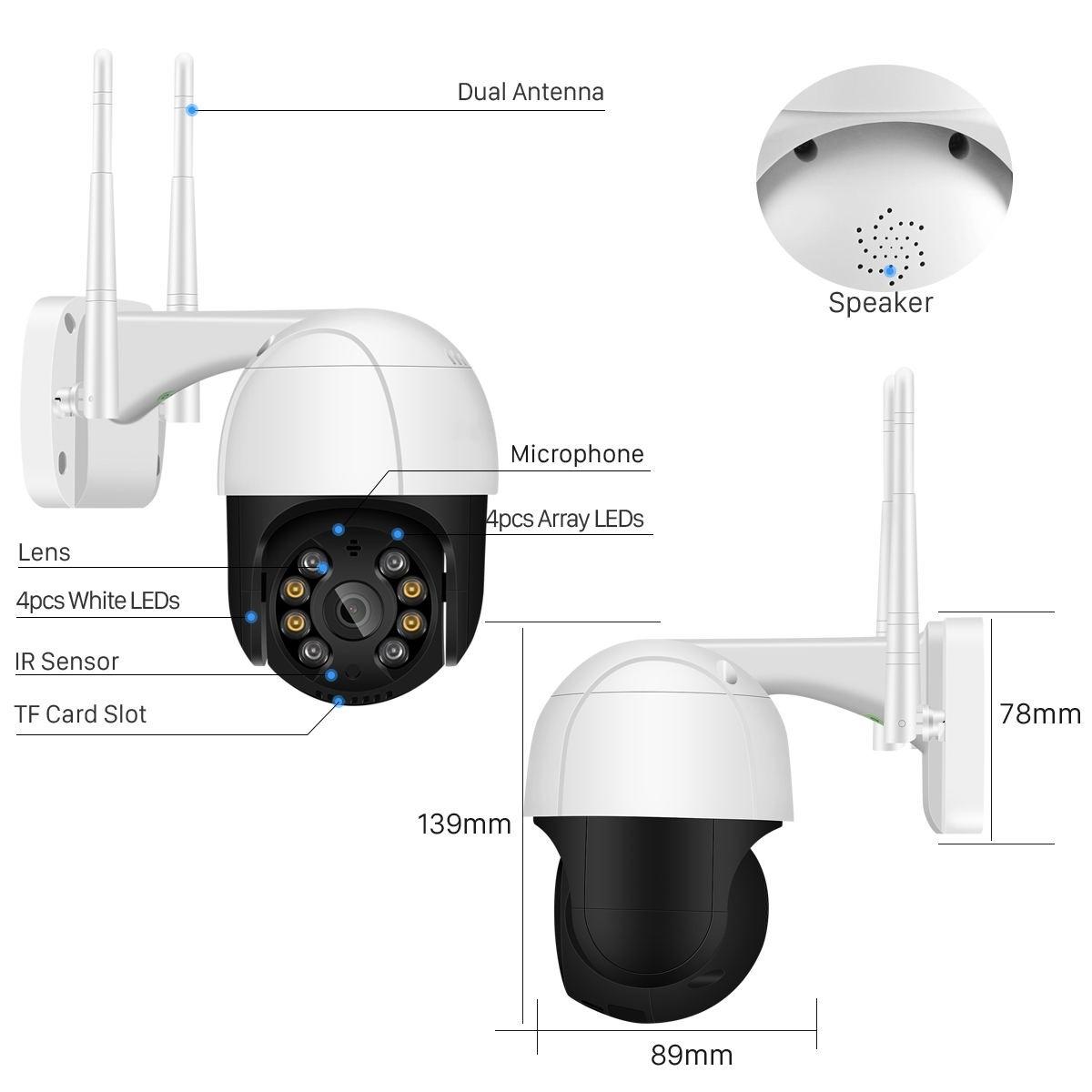 IP Camera BES-A9+ WiFi 1080p/2MP FHD PTZ ONVIF -4495