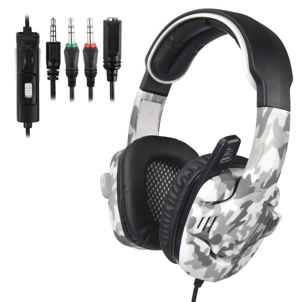 SADES SA708 Gaming Headset με 40mm πανίσχυρα ακουστικά Army Grey-4507